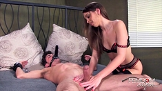 Femdom Fetish Mistresses Fuck Bdsm Loser With Strapon